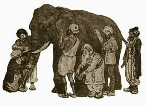 Blind Men and Elephant drawing